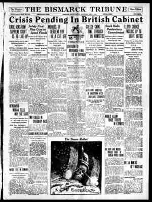 The Bismarck Tribune Gazetesi 2 Aralık 1916 kapağı