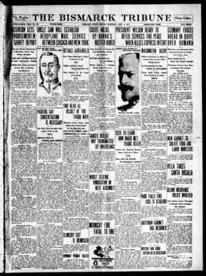 The Bismarck Tribune Gazetesi 14 Aralık 1916 kapağı