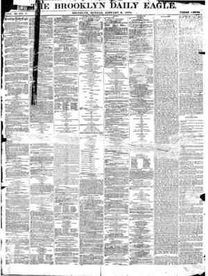 Brooklyn Daily Eagle Gazetesi 3 Ocak 1870 kapağı