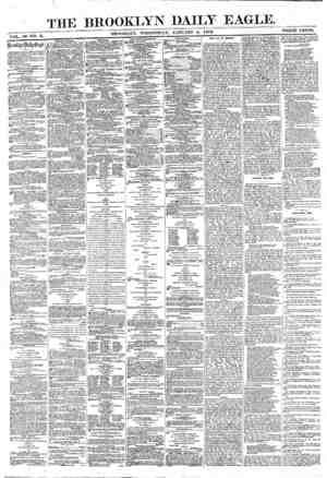 Brooklyn Daily Eagle Gazetesi 5 Ocak 1870 kapağı
