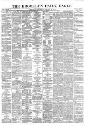 Brooklyn Daily Eagle Gazetesi 6 Ocak 1870 kapağı
