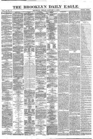 Brooklyn Daily Eagle Gazetesi 7 Ocak 1870 kapağı