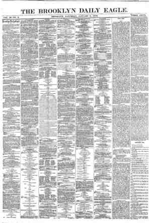 Brooklyn Daily Eagle Gazetesi 8 Ocak 1870 kapağı