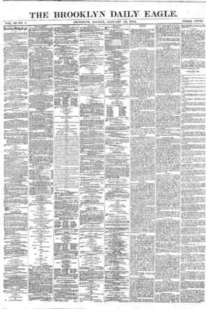 Brooklyn Daily Eagle Gazetesi 10 Ocak 1870 kapağı