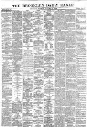 Brooklyn Daily Eagle Gazetesi 11 Ocak 1870 kapağı