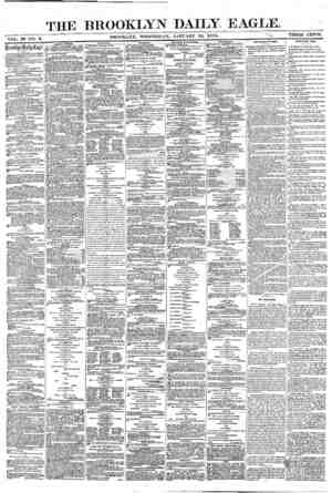 Brooklyn Daily Eagle Gazetesi 12 Ocak 1870 kapağı