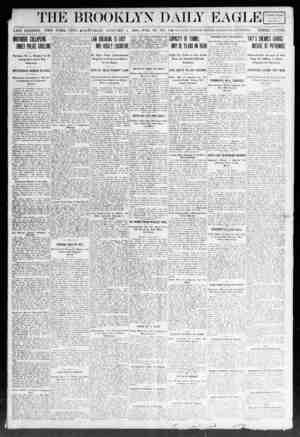 Brooklyn Daily Eagle Gazetesi 4 Ocak 1908 kapağı
