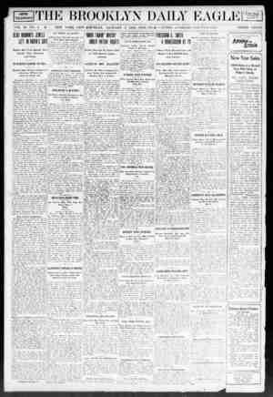 Brooklyn Daily Eagle Gazetesi 5 Ocak 1908 kapağı