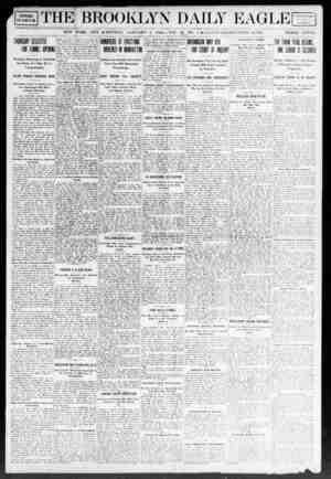 Brooklyn Daily Eagle Gazetesi 6 Ocak 1908 kapağı