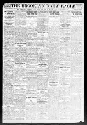 Brooklyn Daily Eagle Gazetesi 7 Ocak 1908 kapağı