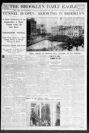 Brooklyn Daily Eagle Gazetesi 9 Ocak 1908 kapağı