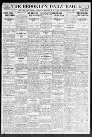 Brooklyn Daily Eagle Gazetesi 10 Ocak 1908 kapağı