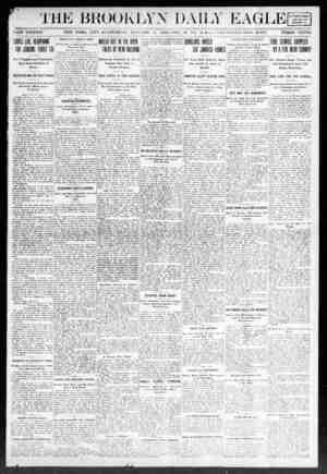 Brooklyn Daily Eagle Gazetesi 11 Ocak 1908 kapağı