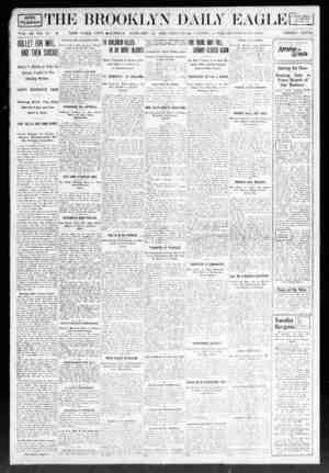 Brooklyn Daily Eagle Gazetesi 12 Ocak 1908 kapağı