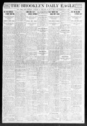 Brooklyn Daily Eagle Gazetesi 13 Ocak 1908 kapağı