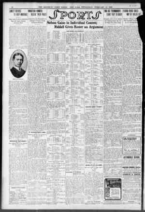m 25 s. THE BROOKLYN DAILY EAGLE. NEW YORK. WEDNESDAY. FEBRUARY 24. 1909. LUMLEY DECIDES TD KEEP MARSHALL TWO BIS TOUIMENTS