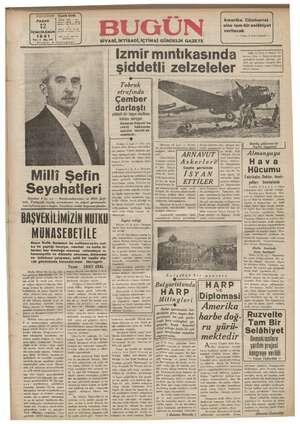 Bugün Gazetesi 12 Ocak 1941 kapağı