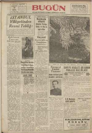 mn BASMUHARRİRİ, NİSAN 1941 Hi Yi Made Resmi e gör lardan arzu edenler Trakya, Erzu . Cavit Oral İDARE PERŞEMBE | oieyon