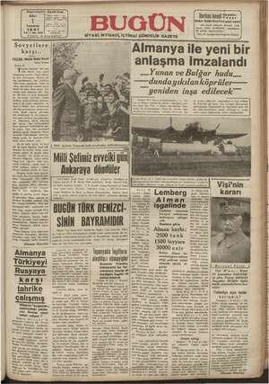 Başmuhartriri : Cavit Oral SALI —   1 Temmuz Yıl:1 No.256 Fiyat Sovyetlere arşı.. YAZAN : Bekir Sıtkı Kunt : Hatay Meb...