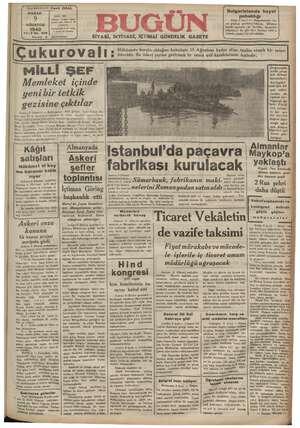 # Başmuharriri: Cavit ORAL N R PAZA İDARE YERİ: Çakmek  ozddesi Adana Telefon 138— Posta K. 48 AĞUSTOS EEE e ağa e Yali vi