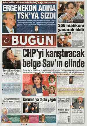 Bugun Gazetesi 16 Şubat 2012 kapağı