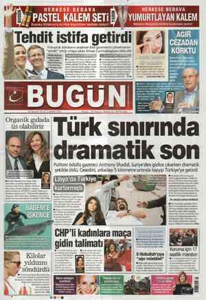 Bugun Gazetesi 18 Şubat 2012 kapağı