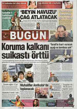 Bugun Gazetesi 21 Şubat 2012 kapağı