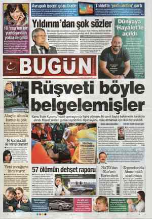 Bugun Gazetesi 22 Şubat 2012 kapağı