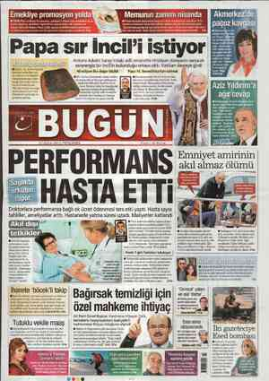 Bugun Gazetesi 23 Şubat 2012 kapağı