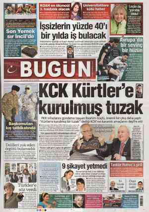 Bugun Gazetesi 24 Şubat 2012 kapağı