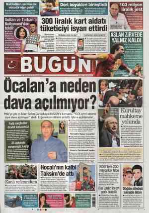 Bugun Gazetesi 27 Şubat 2012 kapağı