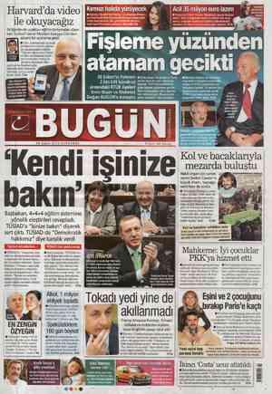 Bugun Gazetesi 29 Şubat 2012 kapağı