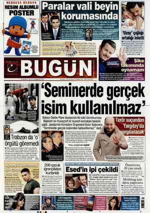 Bugun Gazetesi 3 Mart 2012 kapağı