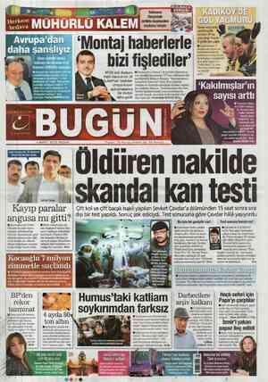 Bugun Gazetesi 4 Mart 2012 kapağı