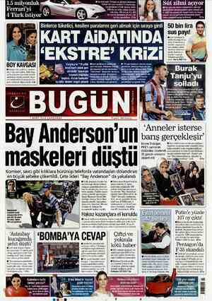 Bugun Gazetesi 7 Mart 2012 kapağı