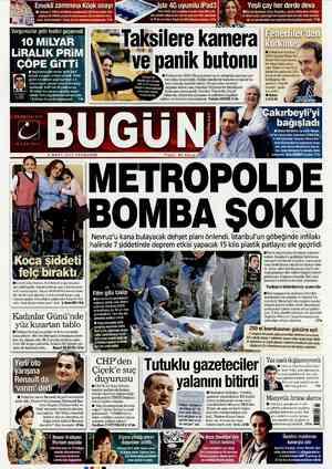 Bugun Gazetesi 8 Mart 2012 kapağı