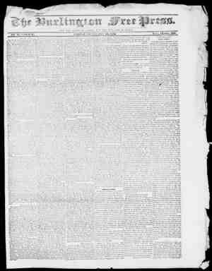 Burlington Free Press Gazetesi February 19, 1836 kapağı