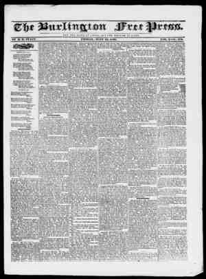 Burlington Free Press Gazetesi June 24, 1836 kapağı
