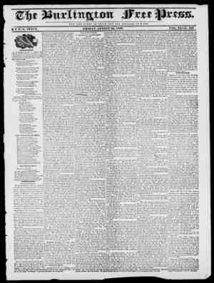 NOT THE 6LORV OFCiESAH; BUT THE WELFARE 0 M E. O F U B Y H. I. STACY. FRIDAY, AUGUST 25, 1837. VOL. XI No. 531 At llif...