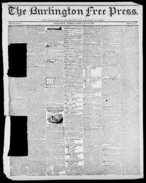 mm NOT TUB GLORY OF C JB S A H OUT TUB WELFARE OF ROMB. BY M. B. STACY. BURLINGTON, VERMONT, FRIDAY, JULY 24, 1840....