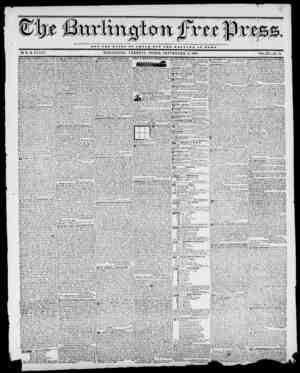 NOT TUB O I O II T O V 0 S S A 8 BUT TUB WELFARE OP ROMB. BY II. B. STACY. BURLINGTON, VERMONT, FRIDAY, SEPTEMBER 11,1840.