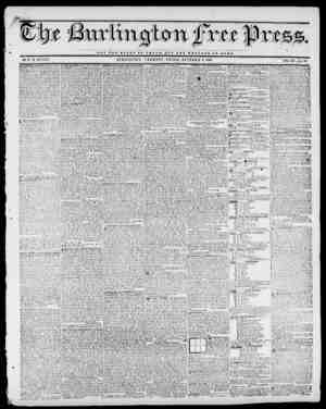 NOT TUB QLOBV OF O H S 1 B BUT TUB WBZ.PABB OF BOMB. BY H. B. STACY. BUKLINGTON, VERMONT, FRIDAY, OCTOBER 2, 1840. VOL....