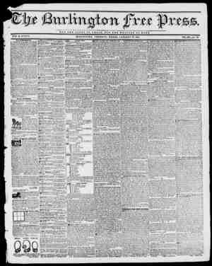 iiw fvtt fte BY II. B. STACY. BURLINGTON, VERMONT, FRIDAY, JANUARY 22, 1841. VOL. XIV....No. 33. NOT TUB Q L 0 n T OP O H I A