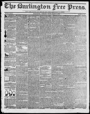 NOT THE GLORY Or OJBSAHt S 0 T T M W X X T A B B OP BOMB. BYH.B. STACY, BURLINGTON, VERMONT, FRIDAY, MARCH 12,1841, tmr vr