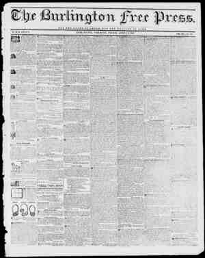 ... NOT THH G L O n Y OF 0 Si SAR, BUT TUB WE iTrTT B O P RoTT BY H. B. STACY. BURLINGTON, VERMONT, FRIDAY, APRIL 2, 1811.