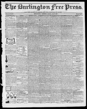 Xtt 3Tt, NOT TUB OLOXT OP A R BUT TUB W E X. F A It E O T BOMB. BY II. B. STACY. BURLINGTON, VERMONT, FRIDAY, JULY 2, 1841.
