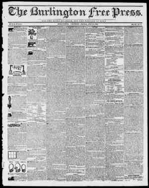 4r NOT THE OZ.OB7 OF O X S A B BUT TBI WBLFABB OF BOMB. BY II. B. STACY. BURLINGTON, VERMONT, FRIDAY, JULY 9, 1841. VOL....