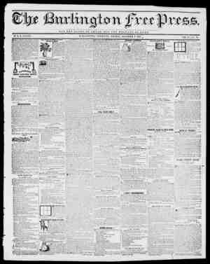 MOT TUB GLORY O r OfflSAK, DDT TUB WELFARE OP ToM E. BY H. B. STACY. . B U R LJ N g VERMONT, FRIDAY, OCTOBER 8, 1841. VOL.