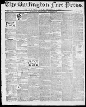 NOT TUB OZ.OHT OP O 21 S A R, BUT TUB WELFARE OF ROME. BYH.B. STACY. BURLINGTON, VERMONT, FRIDAY, N0VE3IBER 5, 1841. M...
