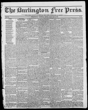 0U fxtt fpte NOT THE OLOBY OP 0 S A K U V t THE WBLFABB OF BOWIE. VOL. XVI. BURLINGTON, VERMONT, FRIDAY, FEBRUARY 17, 1843.